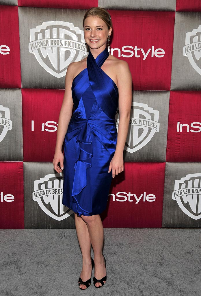 Emily VanCamp arrives at the InStyle/Warner Bros. after party for the 66th Annual Golden Globe Awards held at the Oasis Court at the Beverly Hilton Hotel on January 11, 2009 in Beverly Hills, California.