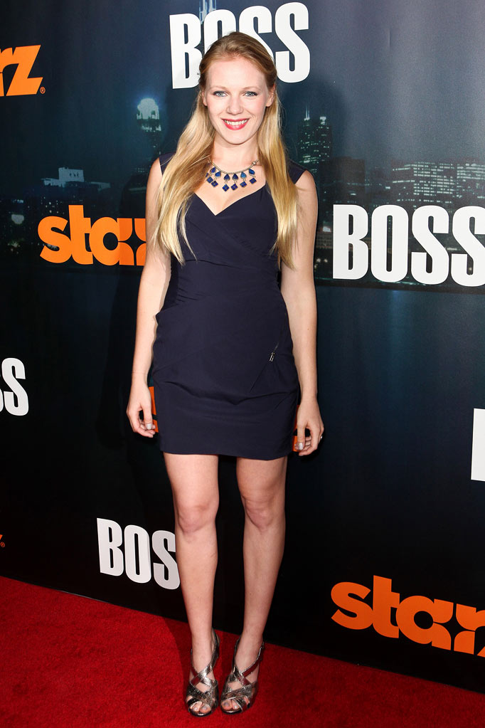 "Emma Bell arrives at the premiere of Starz's ""Boss"" at ArcLight Cinemas on October 6, 2011 in Hollywood, California."