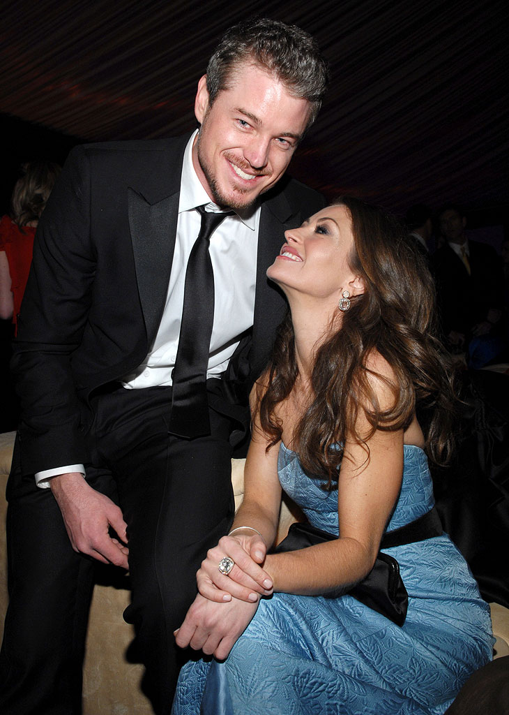 Eric Dane and Rebecca Gayheart at the In Style and Warner Bros. 2007 Golden Globe After Party.