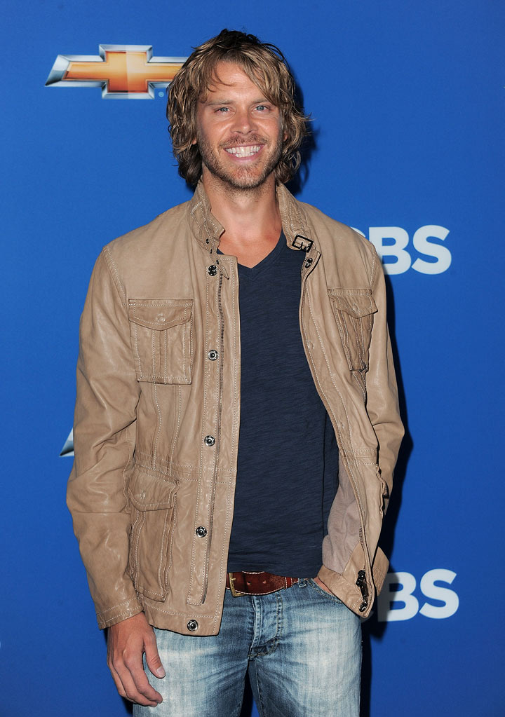 "Eric Christian Olsen of ''NCIS: Los Angeles"" arrives at the CBS Fall Season Premiere party at The Colony on September 16, 2010, in Los Angeles."