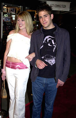Premiere: Eric Szmanda and gal at the LA premiere of Screen Gems' Resident Evil - 3/12/2002