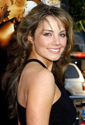 Premiere: Erica Durance at the Hollywood premiere of Warner Bros. Pictures' Batman Begins - 6/6/2005
