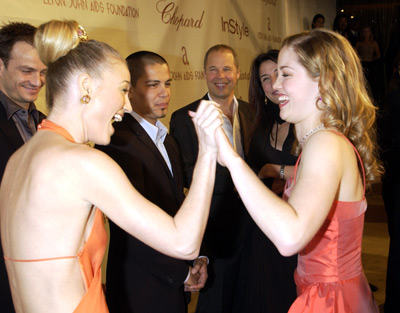 Sarah Wynter and Erika Christensen Elton John AIDS Foundtation In-Style Party Hollywood, CA 3/24/2002