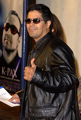 Premiere: They just don't come cooler than Atomic Train star Esai Morales at the Westwood premiere of K-Pax - 10/22/2001