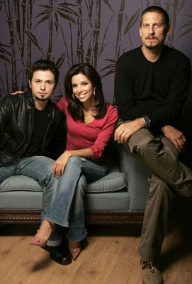 Freddy Rodriguez, Eva Longoria and director David Ayer 2005 Toronto Film Festival - Harsh Times Portraits