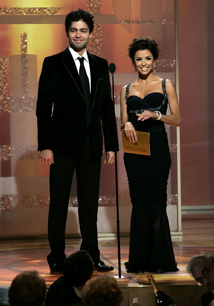 Adrian Grenier and Eva Longoria at the 64th annual Golden Globe Awards.