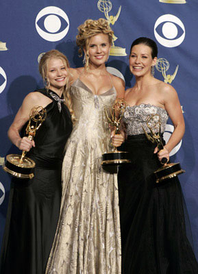 "Emilie de Ravin, Maggie Grace and Evangeline Lilly of ""Lost"" 57th Annual Emmy Awards Press Room - 9/18/2005"