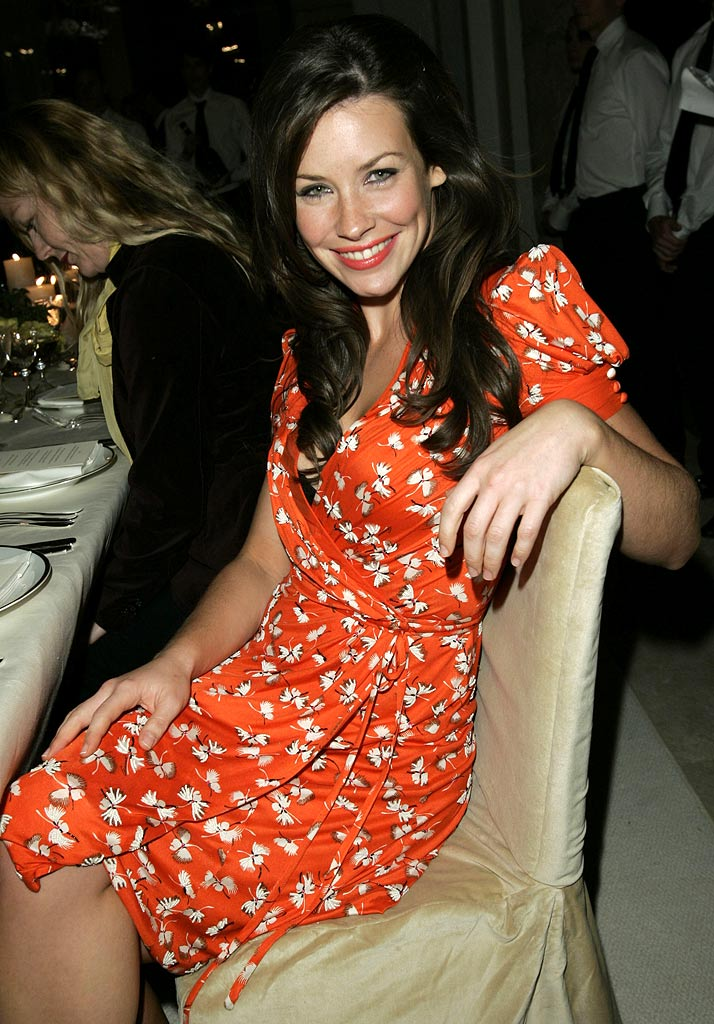 Evangeline Lilly at the Gucci Spring 2006 Fashion Show to Benefit Children's Action Network and Westside Children's Center.