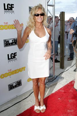 Premiere: Farrah Fawcett at the Miami premiere of Lions Gate's The Cookout - 8/28/2004