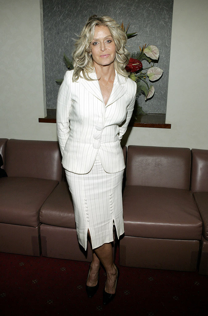 Farrah Fawcett at MTV TCA Day at the Universal Hilton Hotel in Los Angeles, California on January 14, 2005.