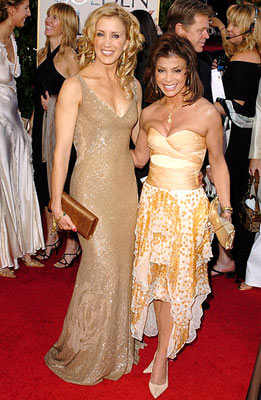 Felicity Huffman and Paula Abdul 62nd Annual Golden Globe Awards - Arrivals Beverly Hills, CA - 1/16/05