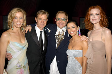 Felicity Huffman, William H. Macy, Elton John, Eva Longoria and Marcia Cross 13th Annual Elton John AIDS Foundation Oscar Party West Hollywood, CA - 2/27/05