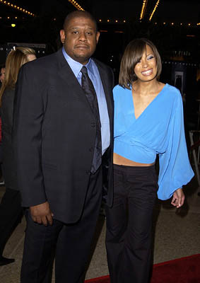 Premiere: Forest Whitaker and wife Keisha at the LA premiere of Columbia's Panic Room - 3/18/2002