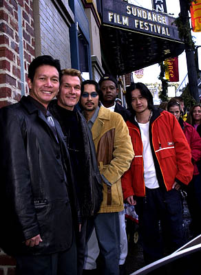 Don Duong, Patrick Swayze, Timothy Linh Bui, Forest Whitaker and Tony Bui of Green Dragon Sundance Film Festival Day 3 Park City, Utah 1/20/2001
