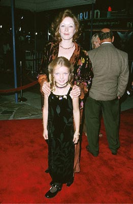 Premiere: Frances Fisher and a small child in a gown at the Mann's Village Theatre premiere of Warner Brothers' Space Cowboys - 8/1/2000