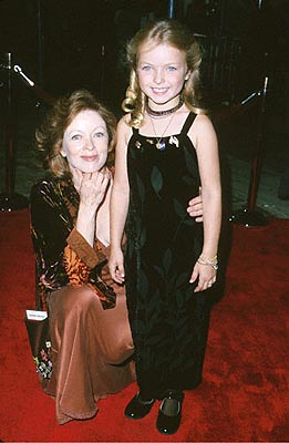 Premiere: Frances Fisher and Gowned Child at the Mann's Village Theatre premiere of Warner Brothers' Space Cowboys - 8/1/2000
