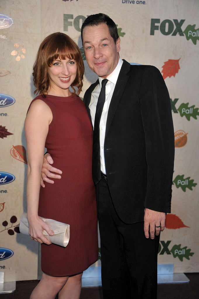 "French Stewart of ""Allen Gregory"" (right) and guest arrive at the 2011 Fox Fall Eco-Casino Party at The BookBindery on September 12, 2011 in Culver City, California."