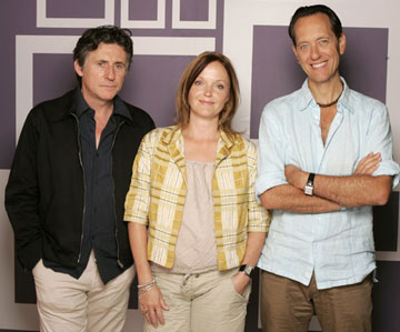 Gabriel Byrne, Miranda Richardson and director Richard E. Grant 2005 Toronto Film Festival - 'Wah Wah' Portraits