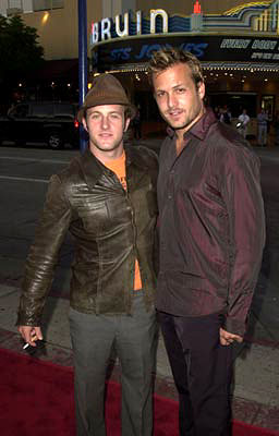 Premiere: Scott Caan and Gabriel Macht at the Westwood premiere of Warner Brothers' American Outlaws - 8/14/2001