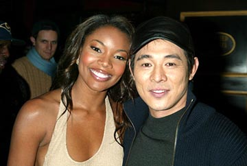 Premiere: Gabrielle Union and Jet Li at the New York premiere of Warner Brothers' Cradle 2 The Grave - 2/24/2003
