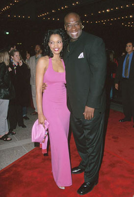 Premiere: Garcelle Beauvais and Michael Clarke Duncan at the LA premiere of Warner Brothers' The Whole Nine Yards - 2/17/2000 Garcelle Beauvais