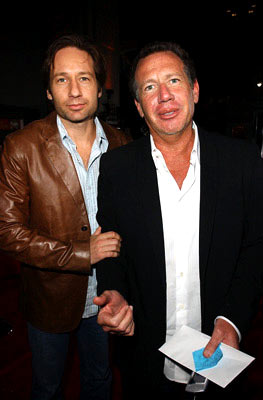 Premiere: David Duchovny and Garry Shandling at the Hollywood premiere of Universal Pictures' Friday Night Lights - 10/6/2004