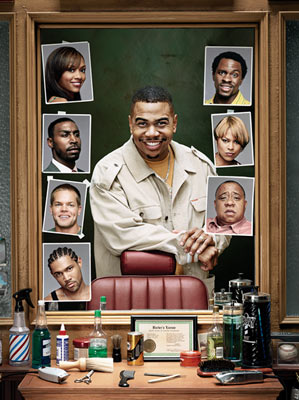 Anna Brown, Omar Gooding, Gbenga Akinnagbe, Toni Trucks, Barry Shabaka Henley, Dan White (II), John Wesley Chatham, and Leslie Elliard Showtime's 'Barbershop: The Series' Gbenga Akinnagbe