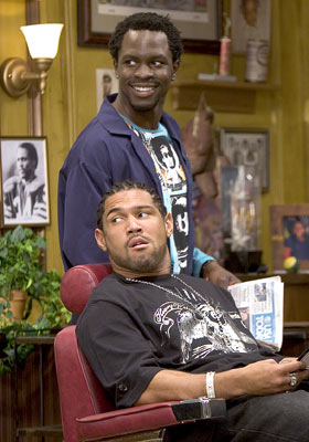 Gbenga Akinnagbe and Dan White (II) Showtime's 'Barbershop: The Series' Gbenga Akinnagbe