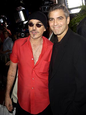 Premiere: Billy Bob Thornton and George Clooney at the LA premiere of Universal's Intolerable Cruelty - 10/1/2003