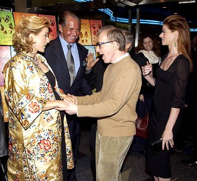Premiere: Tea Leoni, George Hamilton, Woody Allen and Debra Messing at the New York premiere of Dreamworks' Hollywood Ending - 4/23/2002