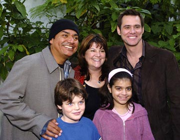 Premiere: George Lopez with family and Jim Carrey at the Hollywood premiere of Paramount Pictures' Lemony Snicket's A Series of Unfortunate Events - 12/12/2004