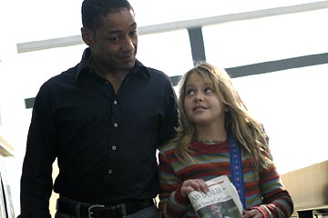 "Giancarlo Esposito as Tim Sanders and Gage Golightly as Jesse Sci-Fi Network's ""Five Days to Midnight"""