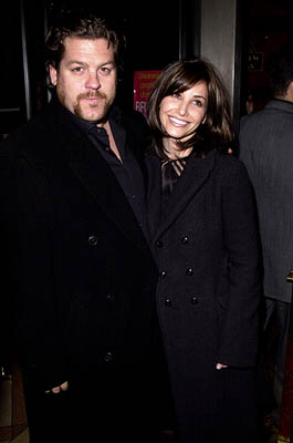 Premiere: Ted Demme and Gina Gershon at the New York premiere of Miramax's Bridget Jones's Diary - 4/2/2001