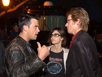 Robbie Williams, Gina Gershon and Denis Leary 100% NYC Concert Tribeca Film Festival, 5/9/2003