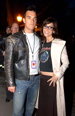 Robbie Williams and Gina Gershon 100% NYC Concert Tribeca Film Festival, 5/9/2003