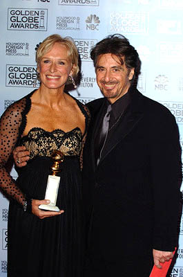 "Glenn Close of ""The Lion in Winter"" with Al Pacino Best Actress in a Miniseries or TV Movie Golden Globe Awards - 1/16/2005"