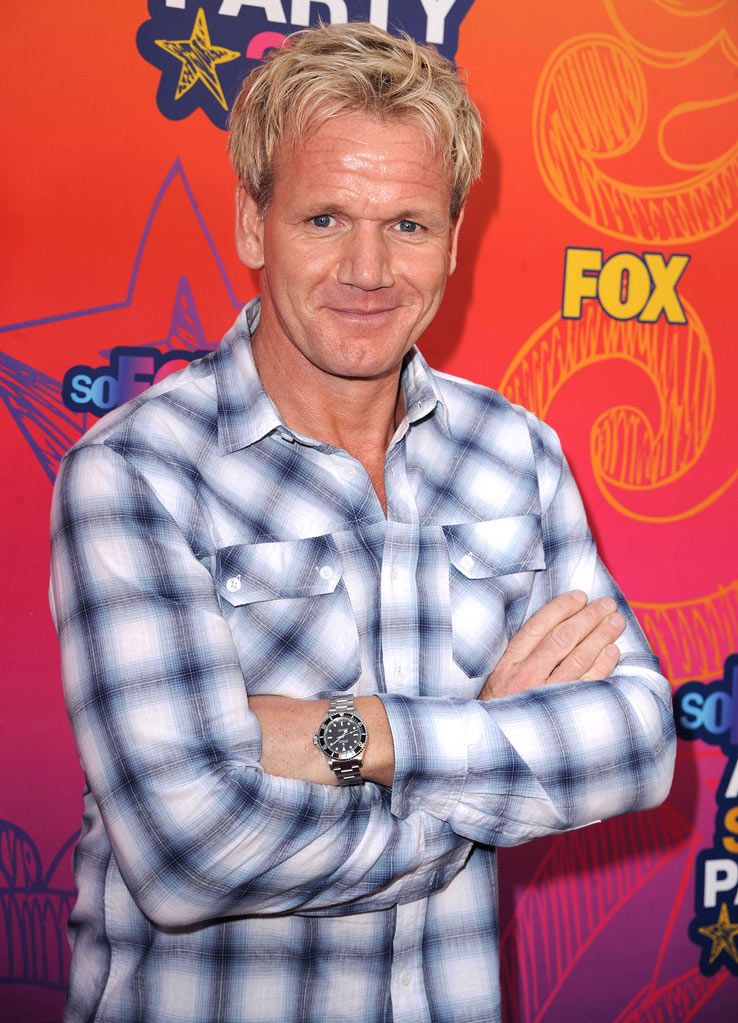 """MasterChef's"" Gordan Ramsay arrives at the Fox 2010 Summer TCA All-Star Party on August 2, 2010 in Santa Monica, California."