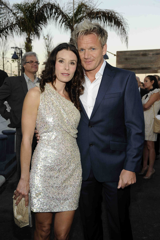 Gordon Ramsay and wife Tana attend the 2011 FOX Summer TCA Party at Gladstone's in Malibu, CA on August 5, 2011.