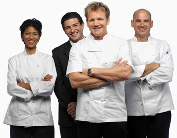 Mary Ann Salcedo, Jean-Philippe Susilovic, Chef Gordon Ramsay and Scott Liebfried FOX's Hell's Kitchen