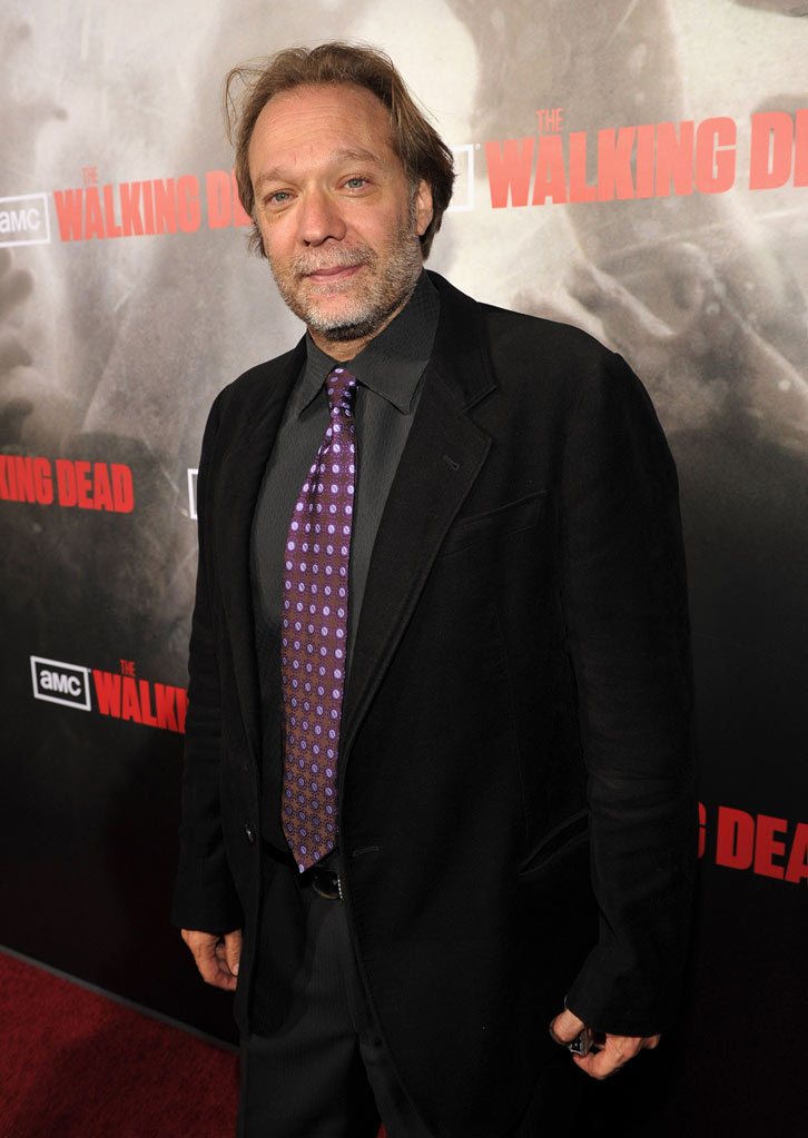 "Gregory Nicotero attends the Los Angeles premiere of ""The Walking Dead"" held at ArcLight Cinemas Cinerama Dome on October 26, 2010 in Hollywood, California."