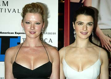 Gretchen Mol and Rachel Weisz The Shape of Things premiere Tribeca Film Festival, 5/7/2003