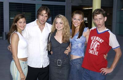 Premiere: Marisa Parker, Sam Ball, Marisa Coughlan, Dominique Swain and Hank Harris at the Hollywood premiere of United Artists' Pumpkin - 6/24/2002