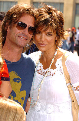 Premiere: Harry Hamlin and Lisa Rinna at the LA premiere of Warner Bros. Pictures' Charlie and the Chocolate Factory - 7/10/2005