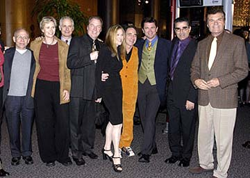 Premiere: Bob Balaban, Jane Lynch, Christopher Guest, Michael McKean, Catherine O'Hara, Harry Shearer, John Michael Higgins, Eugene Levy and Fred Willard at the Hollywood premiere of Warner Bros. A Mighty Wind - 4/14/2003