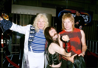 Premiere: David St. Hubbins (Michael McKean), Derek Smalls (Harry Shearer) and Nigel Tufnel (Christopher Guest) at the Egyptian Theatre re-release of This Is Spinal Tap - 9/5/2000