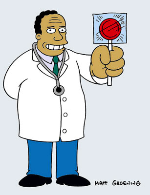 Dr. Julius Hibbert (voiced by Harry Shearer) Fox's The Simpsons