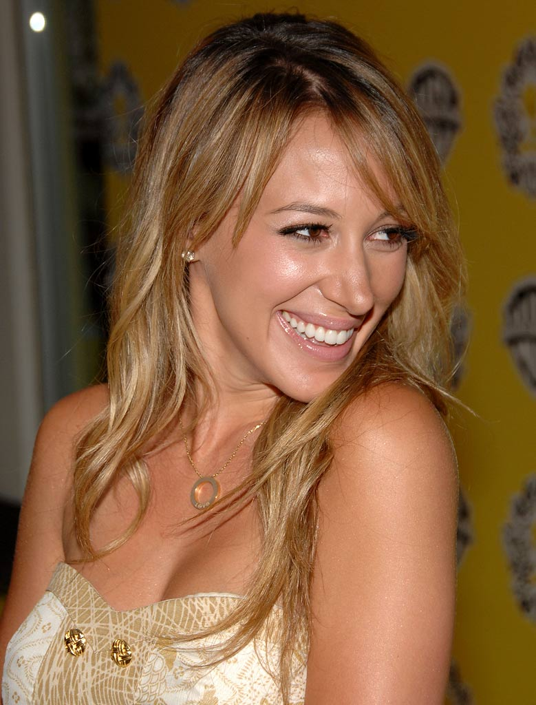 Haylie Duff arrives at the Tweety Collection launch party held at the Tweety boutique on July 25th, 2007 in Beverly Hills, California.