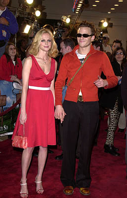 Premiere: Heather Graham and Heath Ledger at the Westwood premire of 20th Century Fox's Say It Isn't So - 3/12/2001