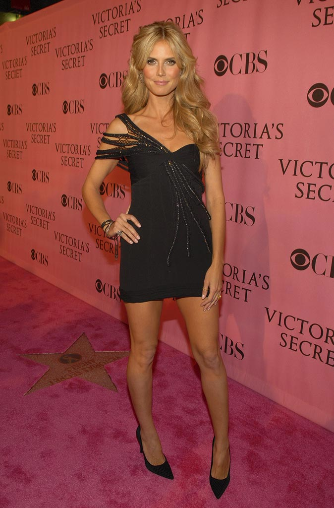 Heidi Klum arrives at the 12th Annual Victoria's Secret Fashion Show at the Kodak Theater.