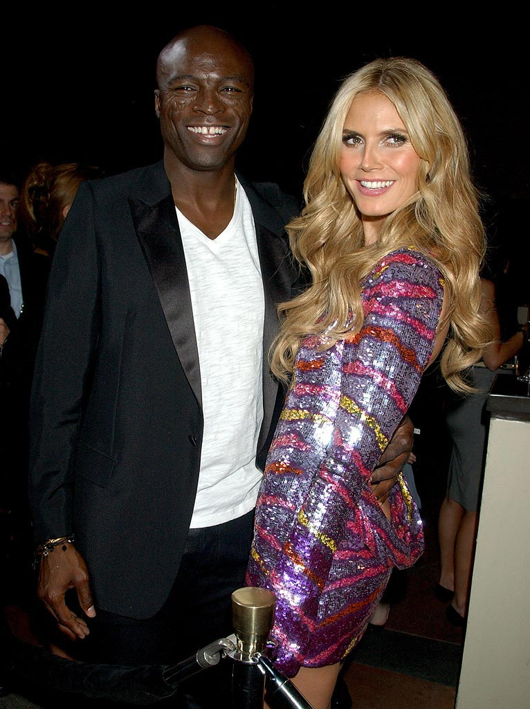 Heidi Klum and singer Seal arrive at the 12th Annual Victoria's Secret Fashion Show after party.